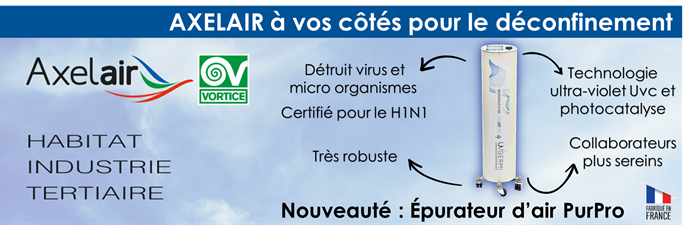 Epurateur d'air PURUV200 à UVc